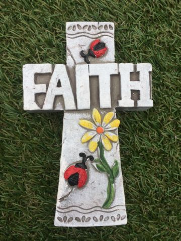 CROSS Garden Coloured Decorative Stone FAITH